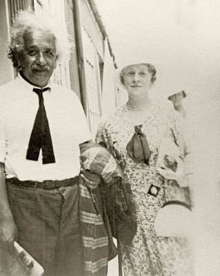 World Peace Photograph - Einstein On A Ship by American Philosophical Society