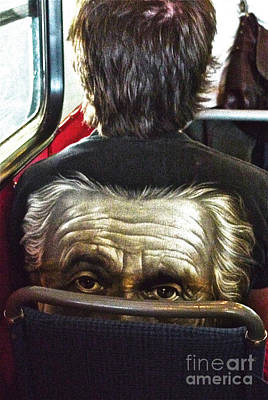 Digital Art - Einstein On The Tram by Leif Sodergren