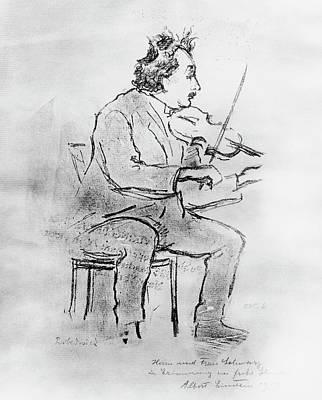Einstein Playing The Violin Art Print