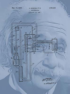 Einstein Refrigerator Art Print
