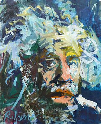 Painting - Einstein by Robert Joyner