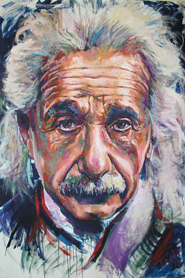 Einstein Painting - Einstein by Tachi Pintor