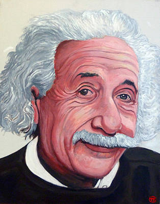 Painting - Einstein by Tom Roderick