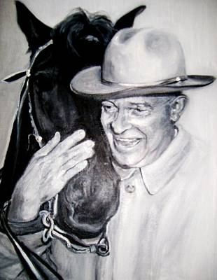 Painting - Eisenhower And Doodle De Doo by Martha Suhocke