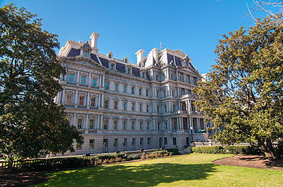 Game Of Chess - Eisenhower Executive Office Building in Washington DC by Alex Grichenko