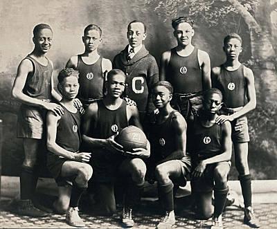 Ej Hooper Basketball Team Art Print by Underwood Archives