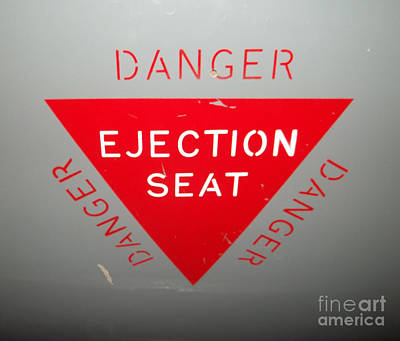 Photograph - Ejector Seat by Barry Lamont