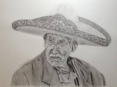 El Abuelo Charro Art Print by Rodrigo Luna
