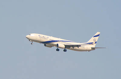 Digital Art - El Al Israeli Airlines by Doc Braham