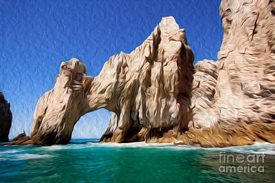Digital Art - El Arco De Cabo San Lucas I by Kenneth Montgomery