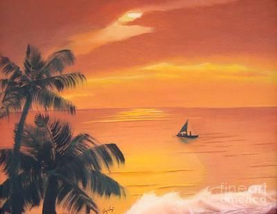 Puerto Rico Painting - El Balneario by Angela Melendez