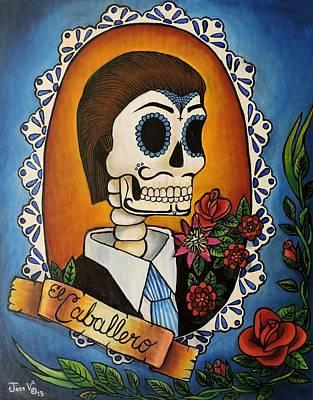 Passion Flower Vine Painting - El Caballero by Jessica  Venzor