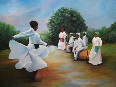 Bomba Painting - El Camino De La Bomba by Migdalia Bahamundi