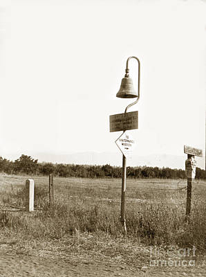 Photograph - El Camino Real Mission Bell Near San Fernando Mission California 1906 by California Views Mr Pat Hathaway Archives