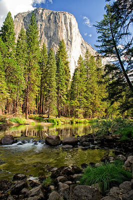 Photograph - El Cap And Merced River by Cat Connor