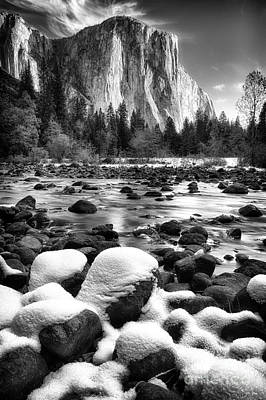 Photograph - El Cap And Snow by Anthony Bonafede