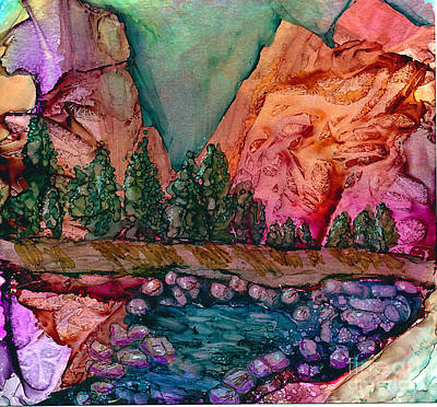 Yosemite Painting - El Capitan by Alene Sirott-Cope