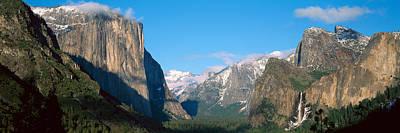 El Capitan And Half Dome Rock Art Print by Panoramic Images