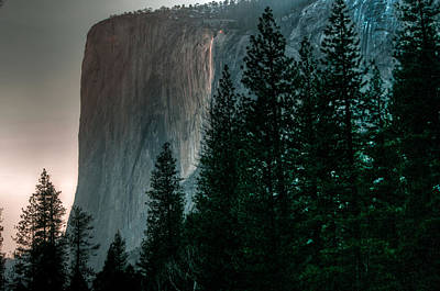 Photograph - El Capitan And Horsetail Falls 2 by Connie Cooper-Edwards