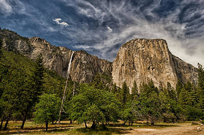 Yosemite California Photograph - El Capitan And Ribbon Falls by Cat Connor