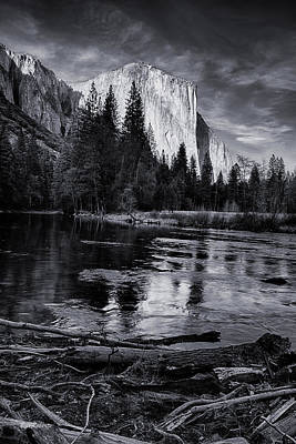 El Capitan Photograph - El Capitan At Sundown by Bill Roberts