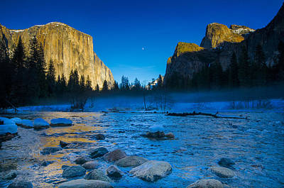 Photograph - El Capitan And Half Dome by James Hammond