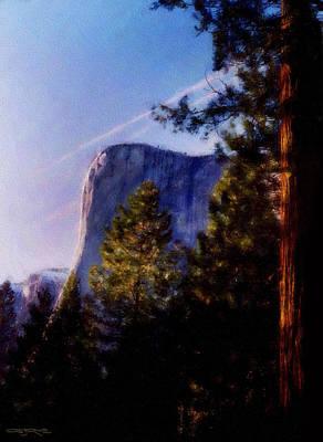 El Capitan Painting - El Capitan by Patrick J Osborne
