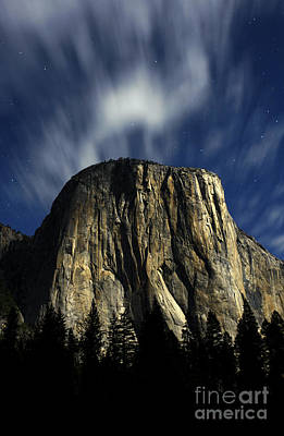 Photograph - El Capitan Under The Stars And The Moon by Deby Dixon