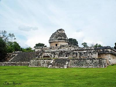 Yucatan Painting - El Caracol by Ellen Henneke