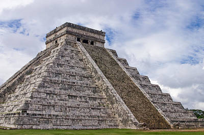 Temple Photograph - El Castillo by Adam Romanowicz