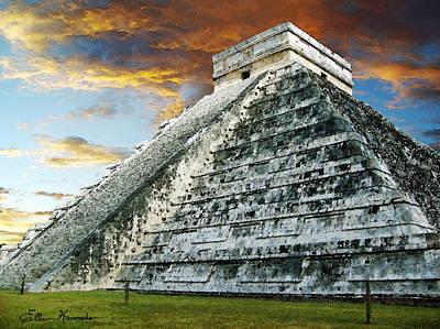 Yucatan Painting - El Castillo by Ellen Henneke