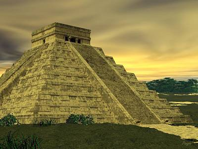 Digital Art - El Castillo by John Pangia
