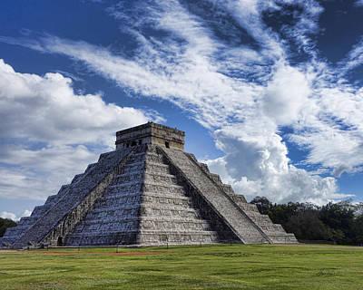 Photograph - El Castillo Mayan Ruins At Chichen Itza by Ann Powell