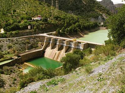 Hydro Wall Art - Photograph - El Chorro Dam by Cordelia Molloy