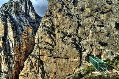 Art Print featuring the photograph El Chorro View With Railway Construction by Julis Simo