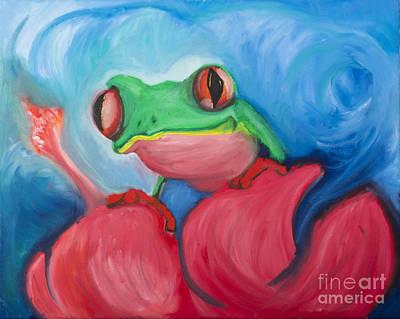 Rican Painting - El Coqui by Luis Velez