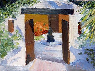El Cortijo Galleries Print by Susan Woodward