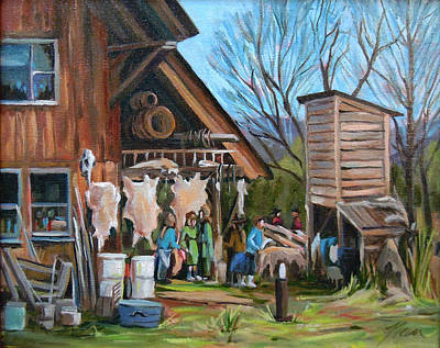 Painting - El Dia De Tanning by Nancy Griswold