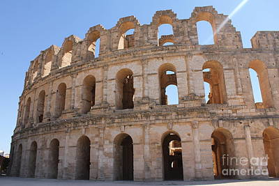 Photograph - El Djem Amphitheater by David Grant