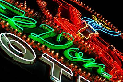Print featuring the photograph El Don Neon by Daniel Woodrum