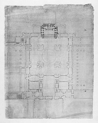 Photograph - El Escorial: Basilica Plan by Granger
