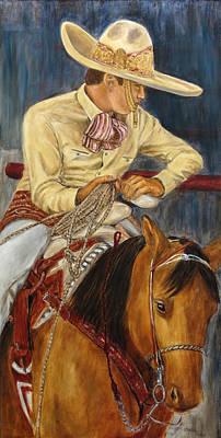 Mexican Cowboy Painting - El Esperar Del Charro by Pat Haley