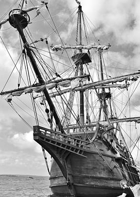 Photograph - El Galeon - Spanish Tall Ship - Ocean City Maryland by Kim Bemis