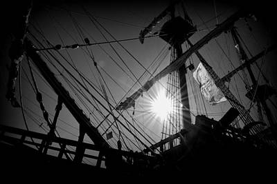 Photograph - El Galleon B W 1 by Sheri McLeroy