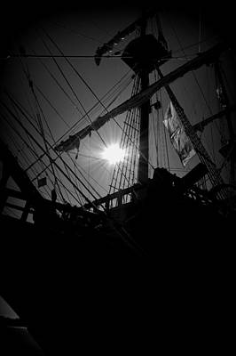 Photograph - El Galleon B W 2 by Sheri McLeroy