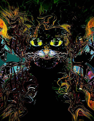 Mixed Media - El Gato by Natalie Holland