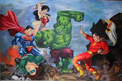 Maravilla Painting - El Increible Hulk by Luis Carlos A
