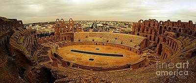 El Jem Amphitheatre Tunisia Art Print by Amalia Suruceanu