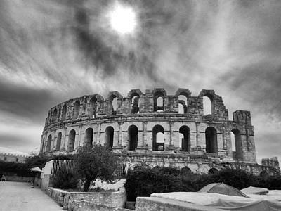 Architectur Photograph - El Jem Colosseum 2 by Dhouib Skander