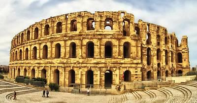 Architectur Photograph - El Jem Colosseum by Dhouib Skander